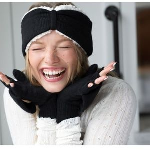 NEW Bearpaw Combo Set: Headband and Pop-top Gloves